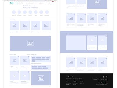 Wireframe Landing Page (LBB - Desktop) india lbb wireframe design home screen homepage landing page website web design wireframing wireframe