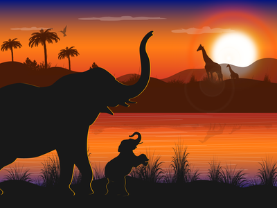 African grassland illustration exercises