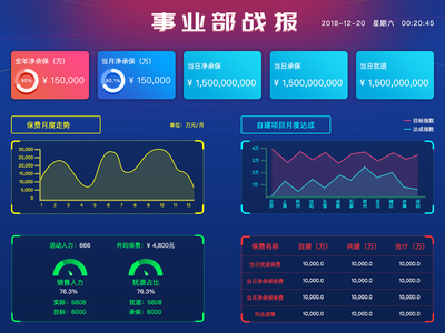 Large screen data 数据分析 data