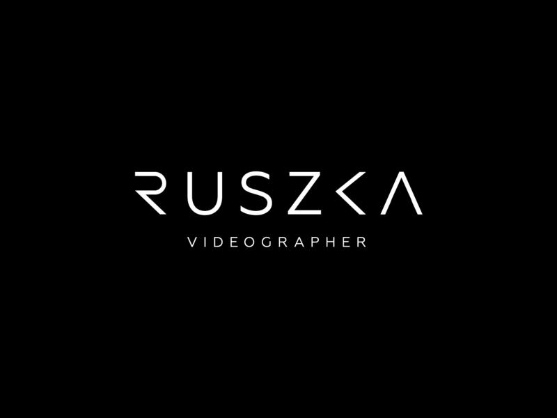 Logo design for Ruszka Videographer kolcsarzsolt redesign minimal videographer ruszka vector logodesign designinpiration typography line typography design logo branding typogaphy graphic  design design