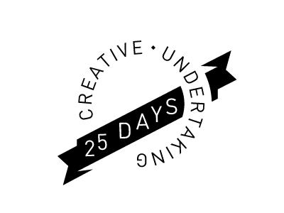 25 days identity logo personal project travel creative undertaking