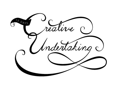 15 Days typography travel blog creative undertaking hand writing