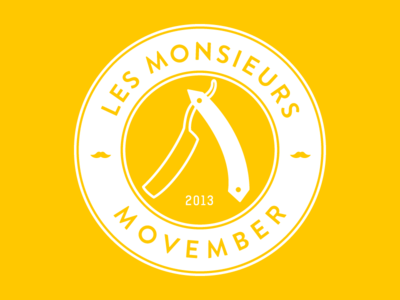 Les Monsieurs Movember movember november moustache monsieurs logo vintage barber shaving