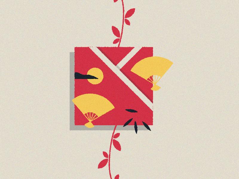 Eboshi vector illusrator japanese art japan illustration minimal design