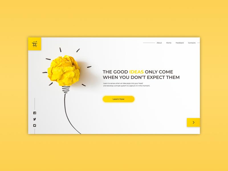 Create an IDEA ux website web ui minimal flat figma design app