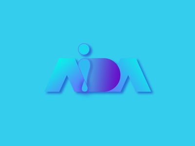Aida logo icon design illustration logo