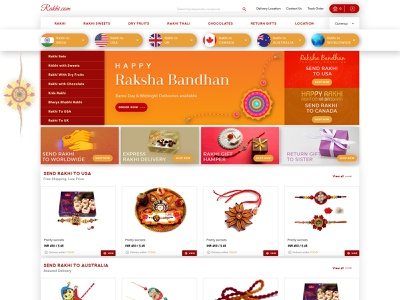 Rakhi Ecommerce Website web ui design