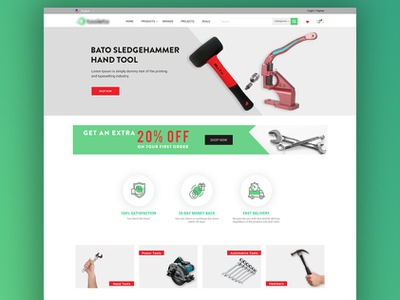 Tool Website Design web ui design
