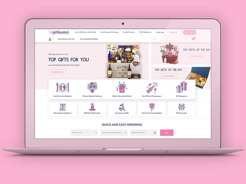 Gift_Website design web ui