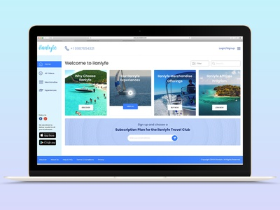 ilanlyfe website design ui web