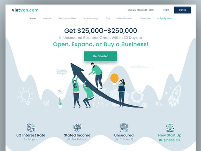 Business Consultent illustration design ui web