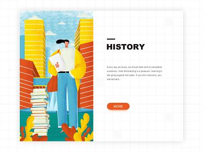 Learning illustration character learn variegated illustration vector illustration package 电脑 植物 建筑 书 人物 职场 工作 学习 杂色插画 矢量插画 包装 illustration design 插画 ui