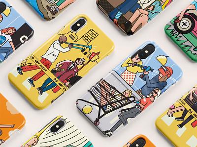 phone case doodle 熊猫 植物 人物 设计 插画 ui y园糖 phone case tourism adventure life game rock music