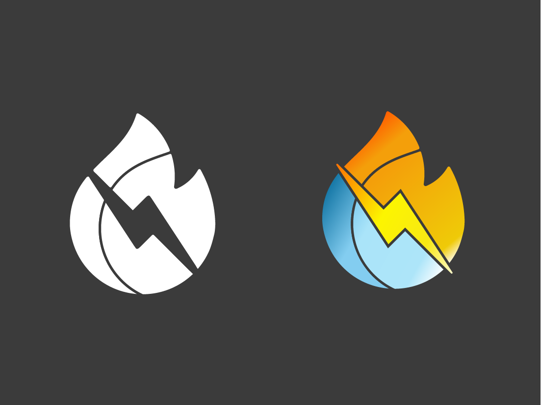 Fire Water Electric Logo by Bronson Lockwood on Dribbble