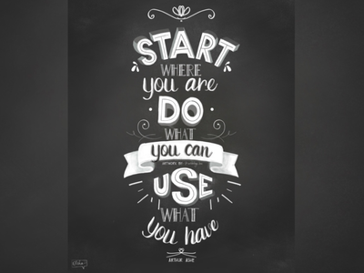 Start Where You Are Do What You Can Use What You Have