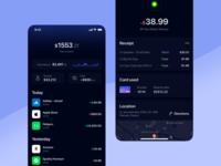 SmartCash #1 ios concept minimal app manage mobile balance card savings budget receipt smart cash transactions details ui design ui