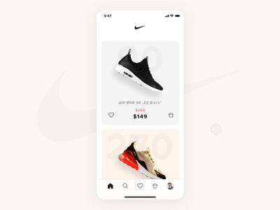 Nike - Store app concept minimal motion add to cart shop store interaction ios app ecommerce animation concept product ux ui