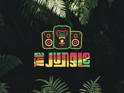 THE JUNGLE LOGO icon event rave music design illustrator coreldraw vector logo