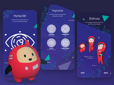 Inycoms AR ux ui branding design app illustration augmented reality