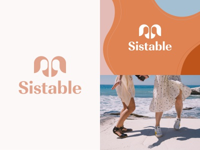 Sistable – Branding brand identity brand design logotype sister sistable woman sisterhood coaching visual identity faces pink orange brand girls sisters women logo design logo branding design