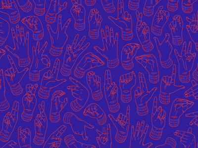 Give me a sign! finger alphabet alphabet pattern hands fingers hands arrangement hand arrangements language sign polish sign language hand deaf sign language red illustrator poland blue illustration design