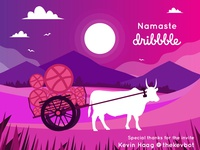 Namaste Dribbble (Hello Dribbble)