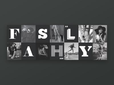 Fashly - Branding graphic design design hoarding fashionably fashly clothing logo branding