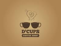 D'Cups Coffee Shop - Logo