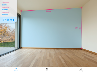 Paint & Tiles augmented reality planning flooring tiles paint interior construction design clear flat simple material clean ui ux