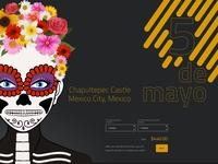 5 de mayo adobe xd adobe illustrator mexico tradition illustraion flat simple clean ui ux design