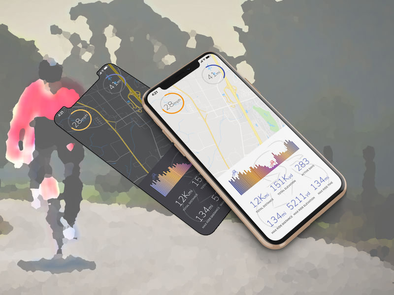 Cycling Stats App cycling sports tracking tracker dataviz dashboad design clear material flat simple clean ui ux