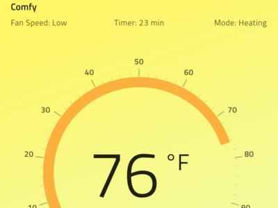 AC app home automation iot flat  design ui ux indigo.design design
