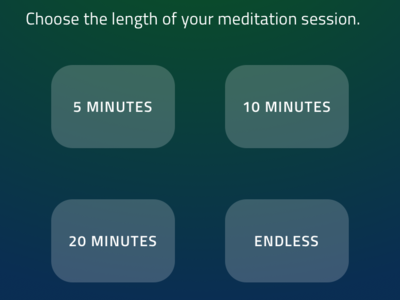 Meditation Selection meditation ui ux indigo.design design