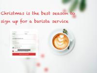 Christmas Barista