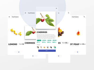 Food Posters online shopping online store print art ecommerce poster art material design ui ux indigo.design flat design design clean design 2d