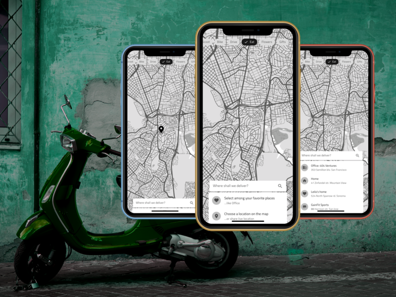 Full Transport Service mobility gifts flowers ubereats uber delivery transport adobexd design flat material simple mobile ux ui clear clean