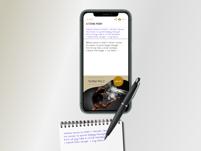 Smart Scribe Pen figmadesign figma note sketching pen writing scribing design ux ui flat simple material clear clean minimal