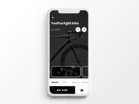 E-commerce app screen