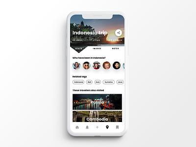 Travel App Screen design angular mobile product indigo indigo.design infragistics ux ui  ux ui travel app travel