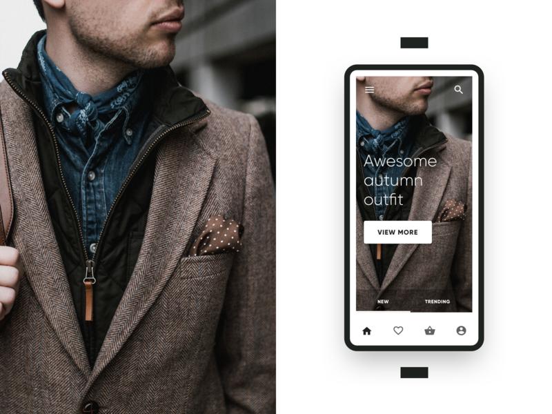 E-commerce App Screen ux angular product mobile infragistics indigo app indigo.design ui ecommerce e-shop