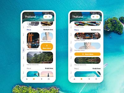 Travel Diary App ui indigo.design mobile design product indigo angular ux infragistics travel app travel