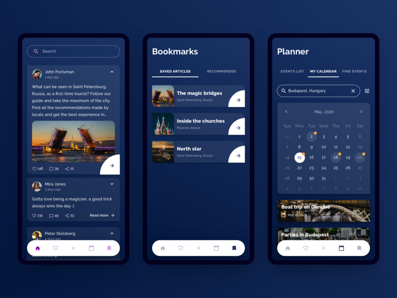 Tourist Planner App angular travel mobile product indigo infragistics indigo.design ux app concept ui app