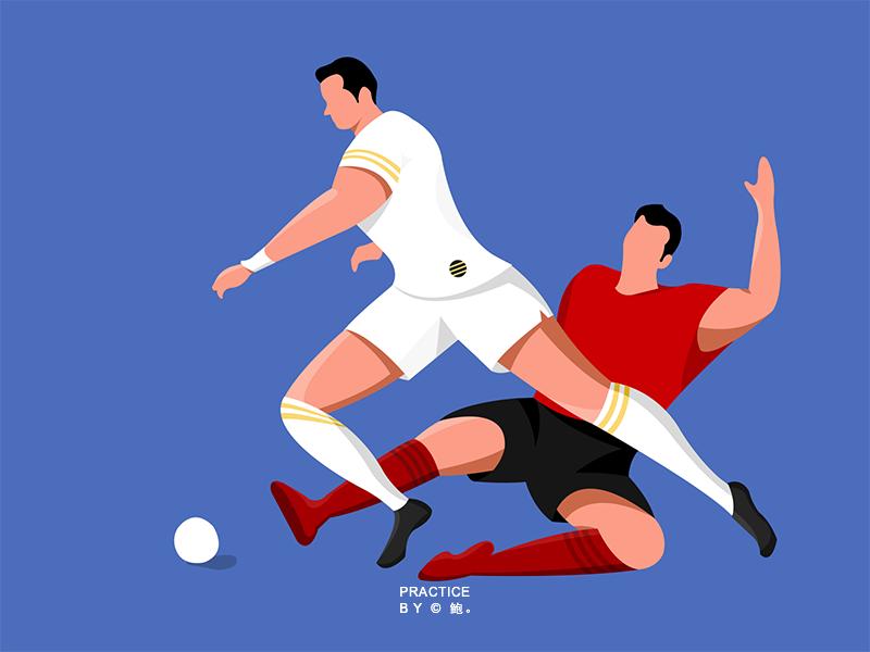 football illustration ui design