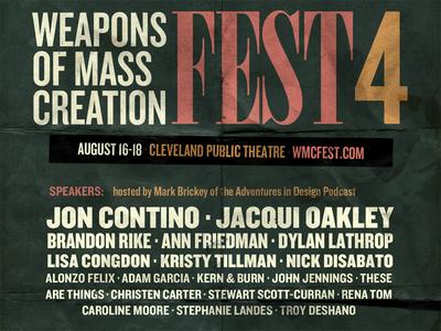 WMC 4 Speaker Lineup wmcfest speakers lineup weapons of mass creation