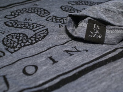 Declaration - Join or Die (grey) join or die declaration tee apparel triblend heather grey simple iconic tag typogrpahy t-shirt