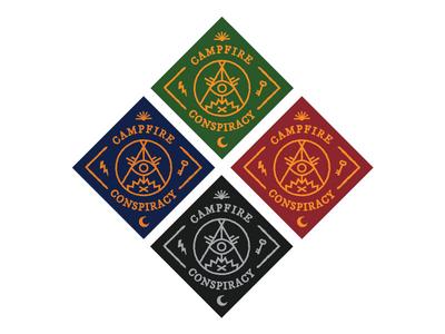 Campfire Conspiracy Stickers campfire conspiracy fire secrets punk pop punk occult symbols illuminati sticker