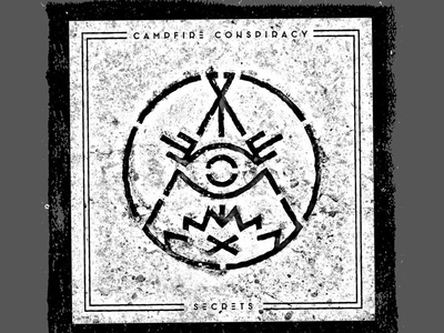 Campfire Conspiracy - CD Release 1 of 2 campfire conspiracy flyer poster punk pop punk xerox photocopy rough black and white symbol occult