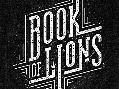 Book of Lions type treatment book of lions lettering vintage retro distressed font