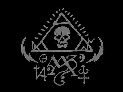 Esoteric 1 esoteric occult greyscale sigils skull triangle lightning bolt