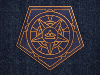 Patch Design patch conspiracy sacred geometry all seeing eye triangle shapes symmetry propaganda pentagon political